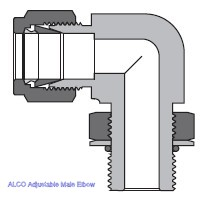 Adjustable Male Elbow