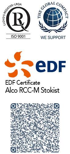 Certificates EDF - Alco RCCM Stokist